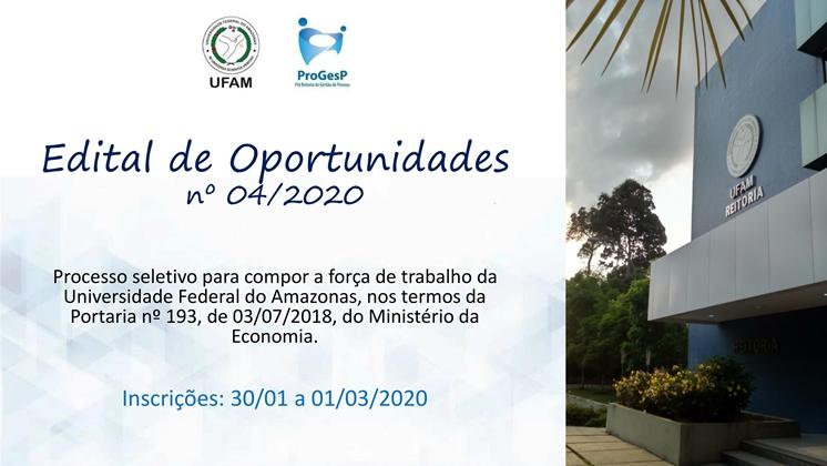 Edital de Oportunidades nº 04/2020