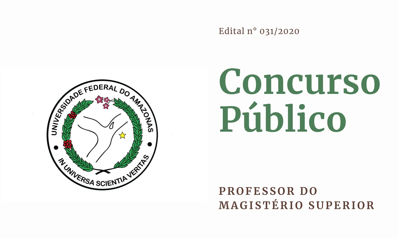 Edital 031.2020 - Professor do Magistério Superior