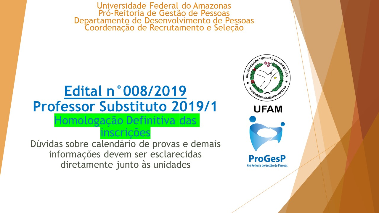 Seleção de Professores Substitutos 2019/1