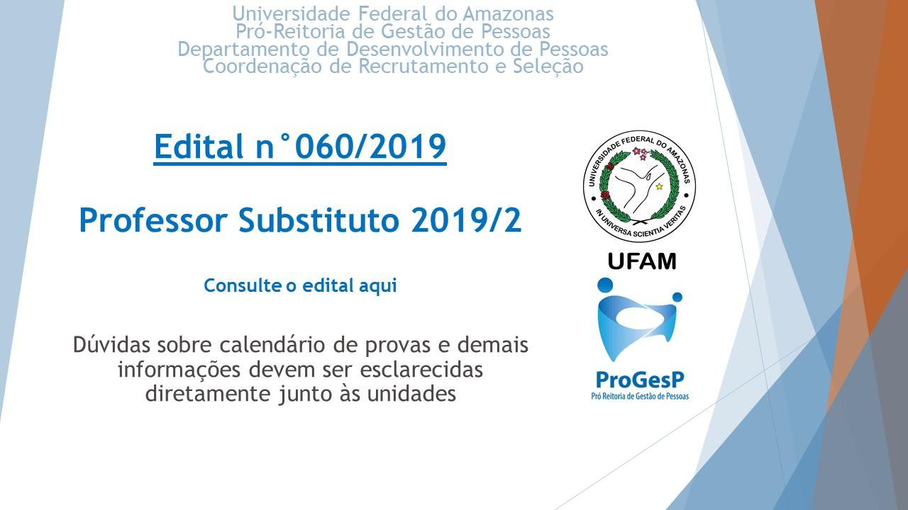 Edital 060.2019 - Professores Substitutos