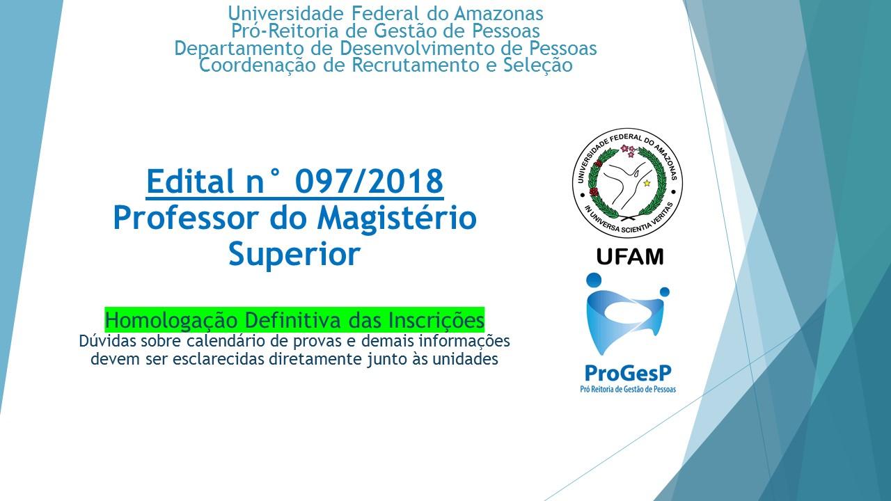 Concurso Público - Magistério Superior