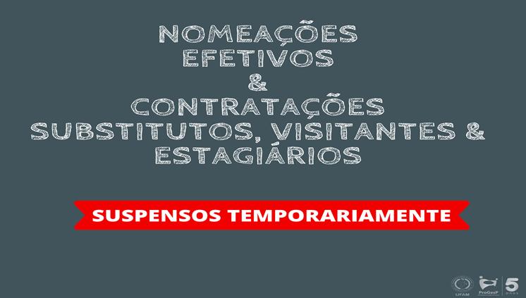 Suspensão de provimentos e contratações